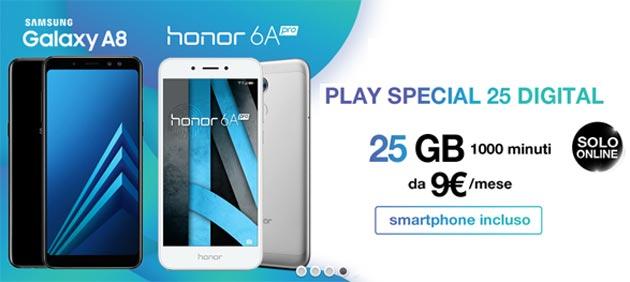 3 PLAY Special 25 Giga con Smartphone da 9 euro al mese