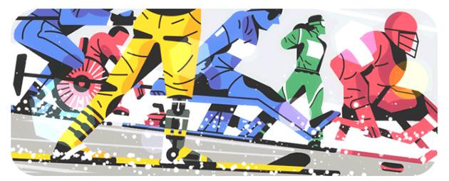 Google doodle per i Giochi paralimpici 2018