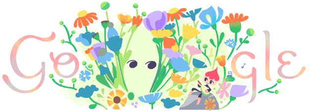 Google Doodle per il Primo giorno di Primavera 2018