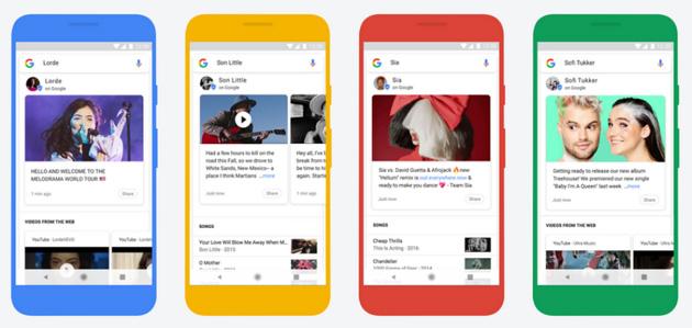 Google mostra nelle ricerche post da musicisti verificati