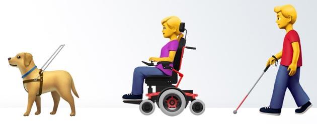 Apple propone nuove emoji dedicate a persone con disabilita'