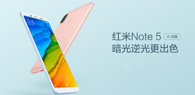 Xiaomi Redmi Note 5 AI, un Redmi Note 5 Pro piu' intelligente