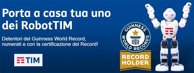 TIM ha messo in vendita e in palo i RobotTIM che hanno stabilito un record del mondo
