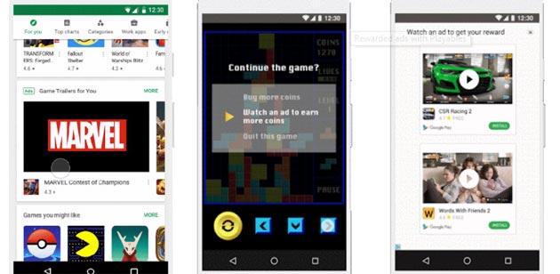 Google testa gli annunci video nel Play Store