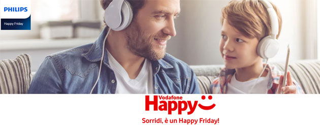 Foto Vodafone Happy Friday il 16 Marzo regala buono sconto Philips.it