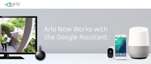 Arlo lavora con Google Assistente e Chromecast