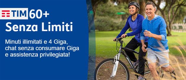 TIM 60+ Senza Limiti: minuti illimitati, 4 giga e assistenza privilegiata per gli Over 60 da 12 euro al mese