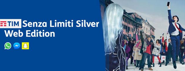 TIM Senza Limiti Silver Web Edition: minuti senza limiti, 5 giga e navigazione nelle app di Chat inclusa a 12 euro mensili [fino al 25 Aprile]