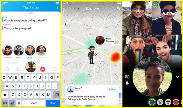 Snapchat: Video Chat di gruppo ed Esplora su Snap Map