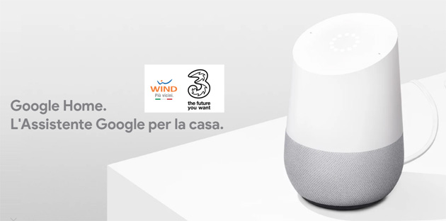 Google Home a rate con Wind e 3