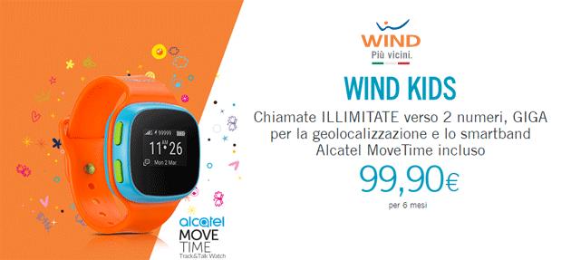Wind Kids, offerta con smartwatch, Minuti, SMS e Internet inclusi