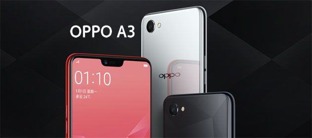 Foto Oppo A3 con notch in Italia a 299 euro