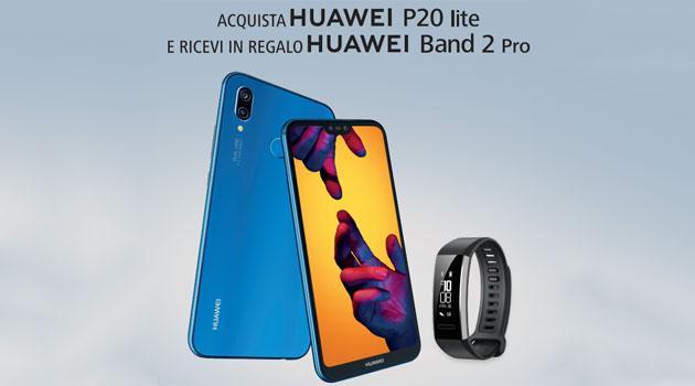 Huawei P20 Lite regala Huawei Band 2 Pro: come richiedere il premio