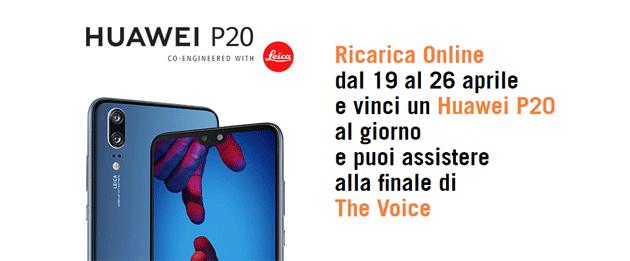 Wind regala Huawei P20 e la finale di The Voice con la Ricarica Online