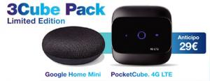 3Cube Pack Limited Edition con Google Home Mini incluso