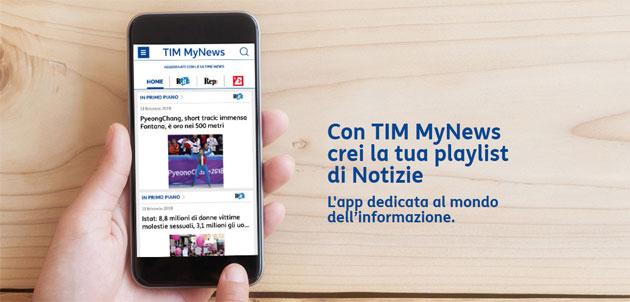 TIM MyNews, notizie a portata di smartphone, tablet e smartwatch