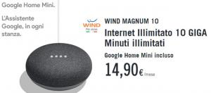 Wind Magnum regala Google Home Mini e raddoppia con Wind Plus fino al 20 maggio