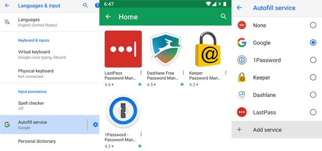 Gestore di password su Android, come e quale utilizzare per la Compilazione Automatica