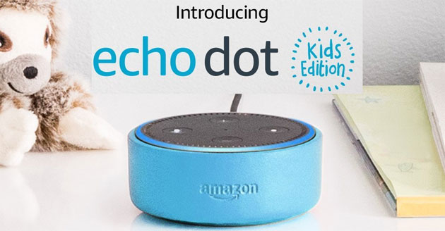 Amazon Echo Dot Kids Edition, altoparlante a comando vocale con Alexa per bambini