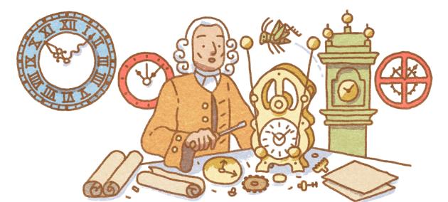 Google Doodle per John Harrison, inventore del cronometro marino