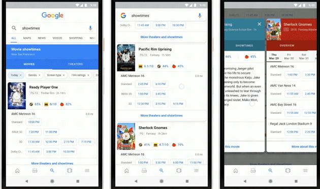 Google semplifica pianificare la serata al Cinema