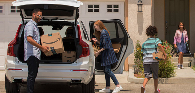 Amazon Key In-Car consegna il pacco nel bagagliaio della propria auto