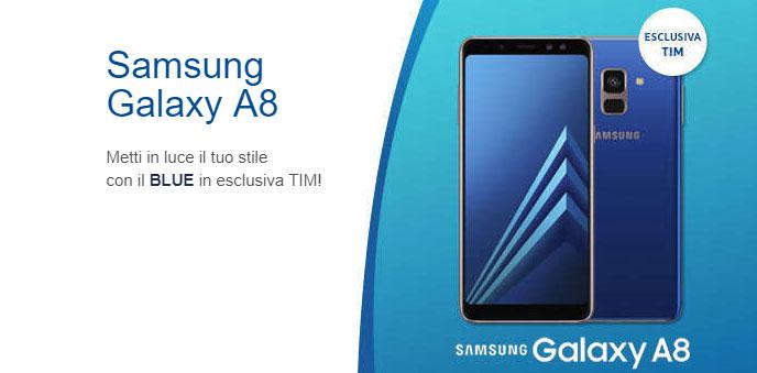 Samsung Galaxy A8 2018 si veste di Blu solo per TIM