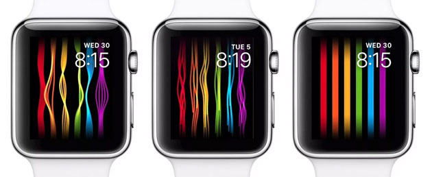 Apple Watch, nuova watch face Pride con fili colorati che si muovono