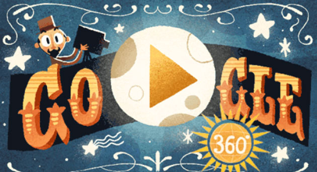 Google dedica il primo doodle 360 e in VR a Georges Melies