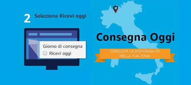 Amazon Consegna Oggi: a Roma e Milano gli ordini si ricevono entro sera