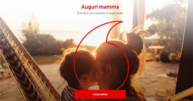 Vodafone per la Festa della Mamma consente di inviare un augurio personalizzato