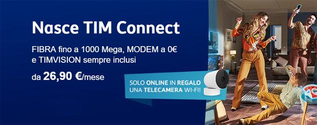 TIM CONNECT regala una Telecamera WiFi a chi attiva online