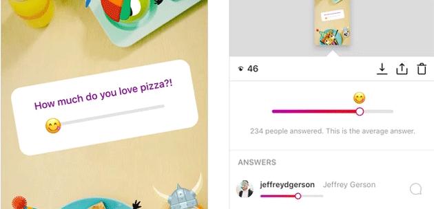 Emoji Slider, su Instagram Adesivi con Emoji a Scorrimento