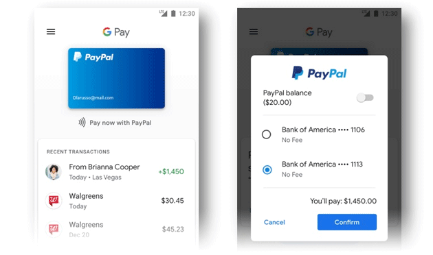 Foto PayPal con Google Pay in Gmail, YouTube e altri servizi Google