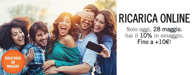 Wind Ricarica Online: fino a 10 euro omaggio oggi 28 Maggio