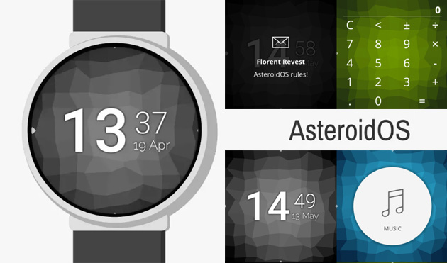 AsteroidOS, sistema operativo alternativo a Wear OS per wearable
