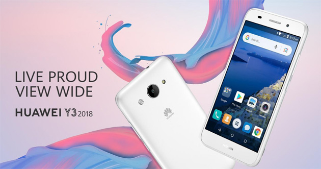 Huawei Y3 2018, primo smartphone Android Go di Huawei