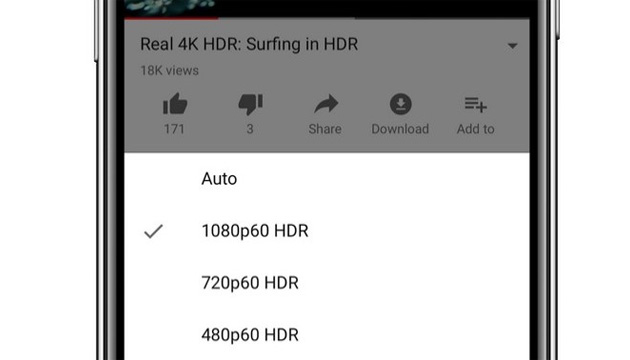 Youtube in HDR su iPhone X