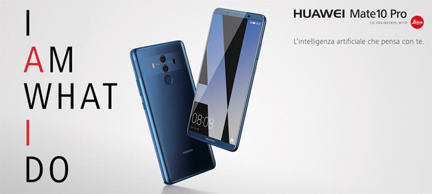 Huawei sul Mate 10 Pro porta lo sblocco tramite riconoscimento facciale