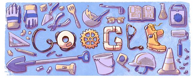 Google doodle per La Festa del Lavoro 2018
