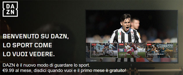 Foto Dazn, in Italia il servizio di sport live e OnDemand in streaming di Perform. Parte con la Serie A