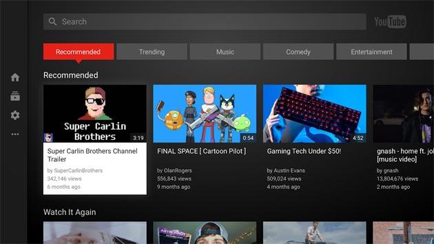 YouTube per Android TV supporta Google Assistant e i canali personalizzati sulla homescreen di Oreo