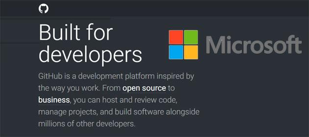 Microsoft comprando GitHub investe sugli sviluppatori