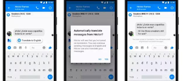 Facebook Messenger tradurra' i messaggi in automatico