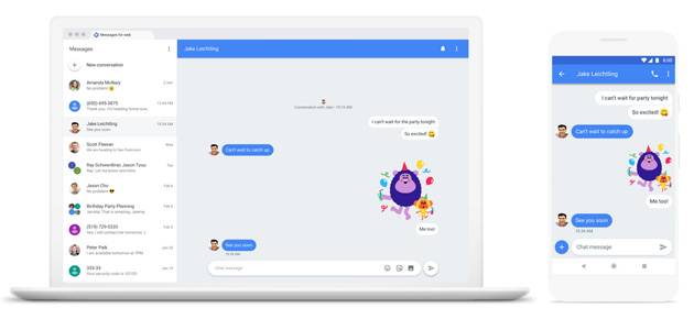 Foto Android Messaggi per il Web come si usa per inviare SMS dal computer