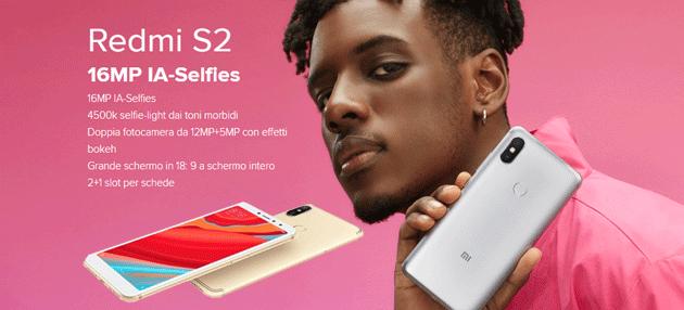 Xiaomi Redmi S2 con Dual Camera, IA e schermo 18:9 in Italia
