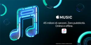 3 regala Apple Music per 6 mesi con All-In, Free e Play 25 [fino al 23 settembre 2018]