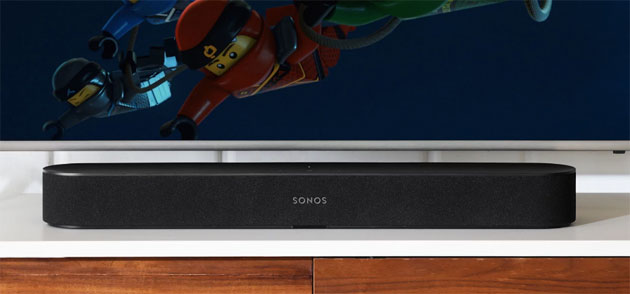 Foto Sonos Beam, soundbar con HDMI-ARC e controllo vocale Amazon Alexa in Italia