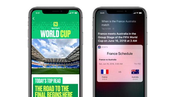 Apple per i Mondiali di Calcio 2018
