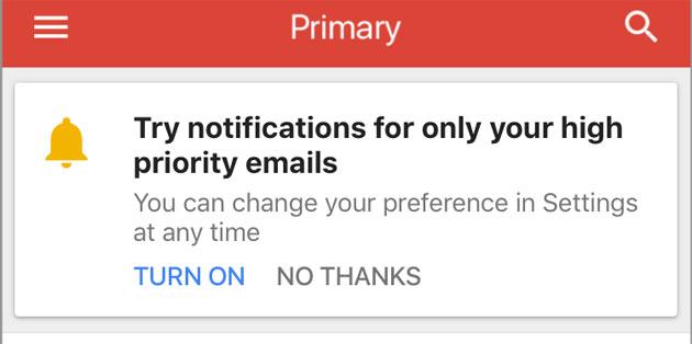 Gmail su iOS utilizza la IA per mostrare solo le notifiche importanti